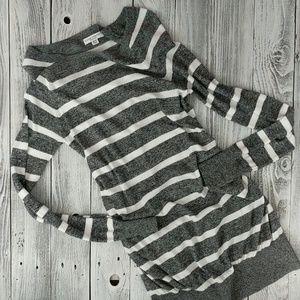 LIZ LANGE • Maternity Shirt Sweater Dress Striped